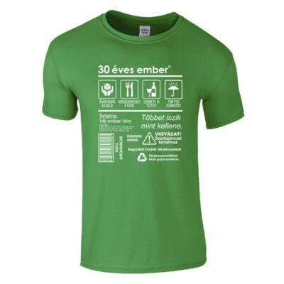 Csomag ellátás címke - szülinapos póló (Zöld)