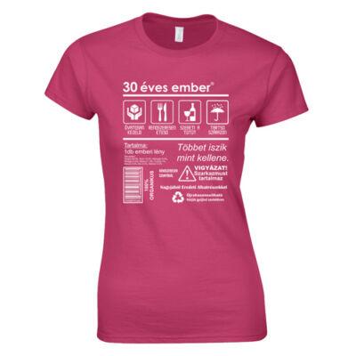 Csomag ellátás cimke - szülinapos női póló (Rózsaszn)