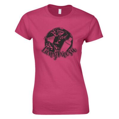 Koktélok - lánybúcsú női póló (Rózsaszín)