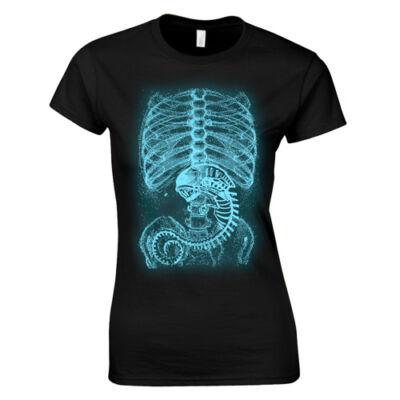 Alien X-ray női póló (Fekete)
