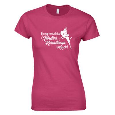 Tündéri keresztanya vagyok női póló (rózsaszín)