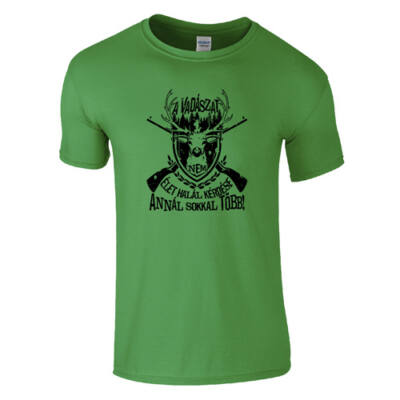 A vadászat férfi póló (zöld)