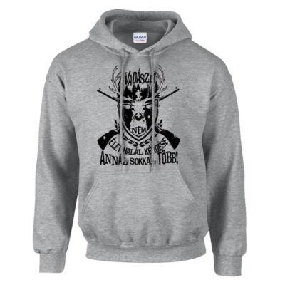 A vadászat kapucnis pulóver (szürke)