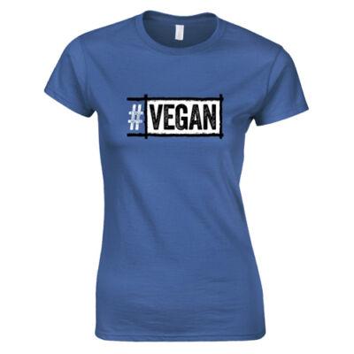 #Vegan női póló (királykék)