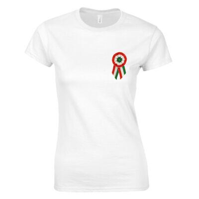 Kokárdás női póló (fehér)