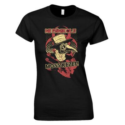 Ne pánikolj női póló (fekete)