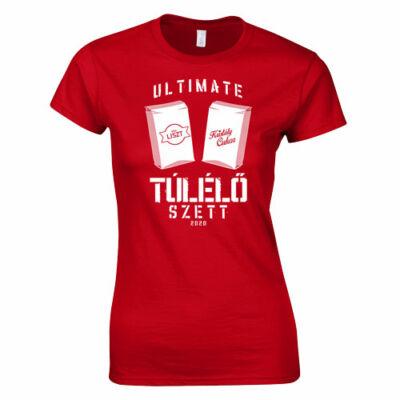 Ultimate túlélő szett női póló (piros)