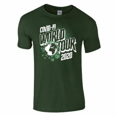 World tour férfi póló (sötétzöld)