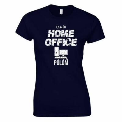 Home office női póló (sötétkék)