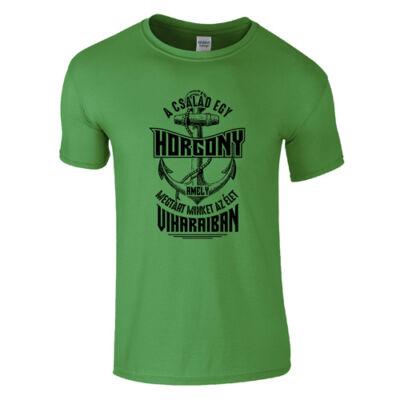 A család egy horgony férfi póló (Zöld)