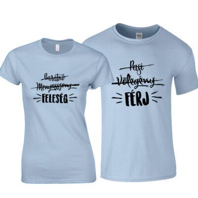 Férj és Feleség páros póló (Világoskék)