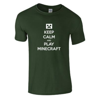 Keep calm MC póló (Sötétzöld)