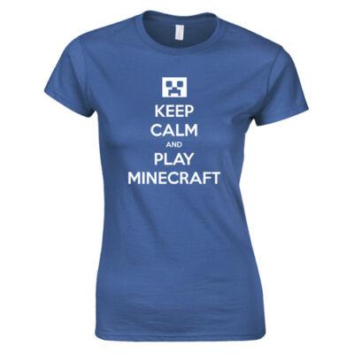 Keep calm MC női póló (Királykék)