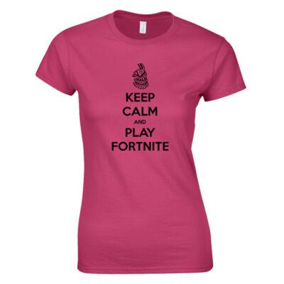 Keep Calm FN női póló (Rózsaszín)