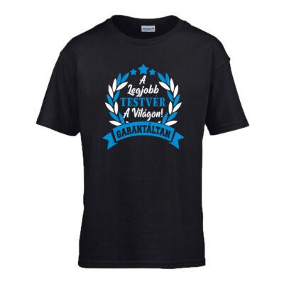 A Legjobb testvér a világon gyerek póló (Fekete_kék)