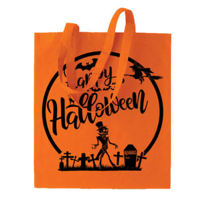 LOLmarkt Halloween-i narancs vászontáska
