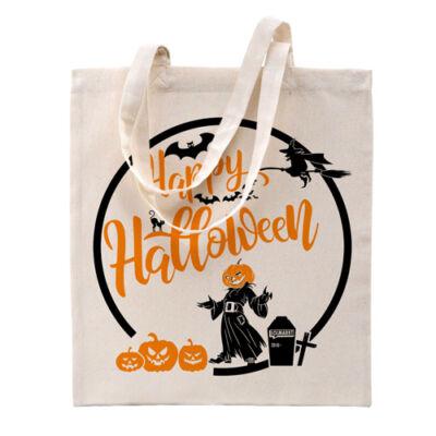 LOLmarkt Halloween natúr vászontáska