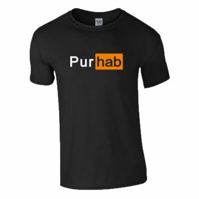 Purhab póló (Fekete)