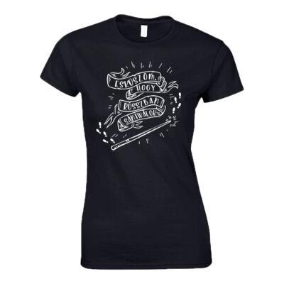 ESKÜSZÖM,HOGY ROSSZBAN SÁNTIKÁLOK női póló (Fekete)