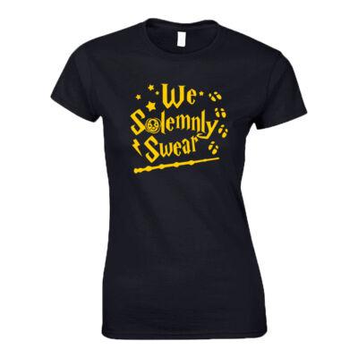 We solemnly swear női póló (Fekete)