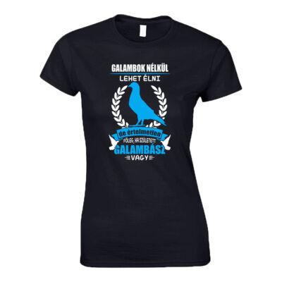 Galambász női póló ( Fekete)