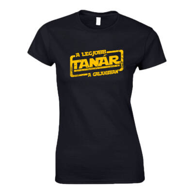 A legjobb tanár női póló (Fekete)