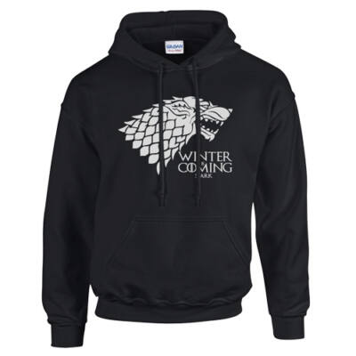Trónok harca - Stark kapucnis pulóver (fekete)