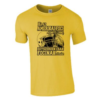 Amerikai foci Férfi póló (citrom)
