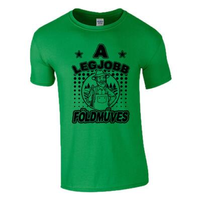A legjobb földműves férfi póló (Zöld)