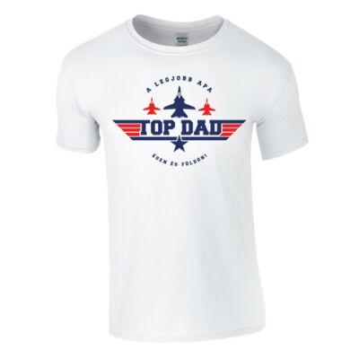 TOP DAD férfi póló(fehér)