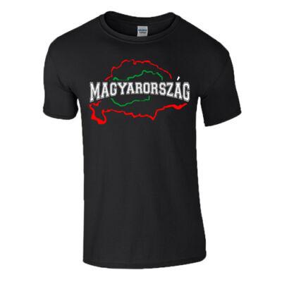 Magyarország férfi póló (fekete)