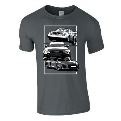 AUTÓBOLOND Audi férfi póló(grafit)