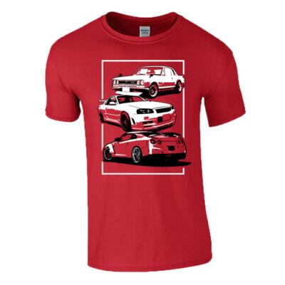 AUTÓBOLOND GTR férfi póló (piros)