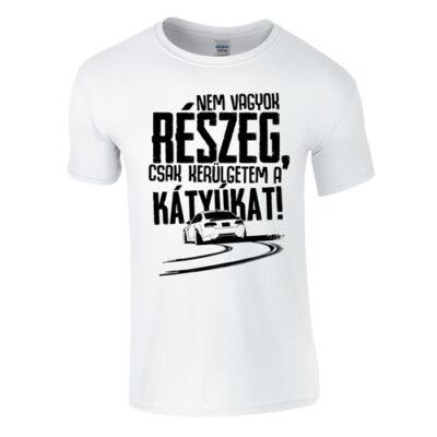 KERÜLGETEM A KÁTYÚKAT férfi póló (fehér)