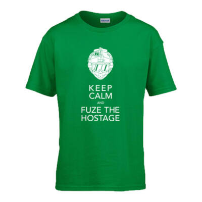 Keep calm and fuze the hostage R6 gyerek póló (Zöld)