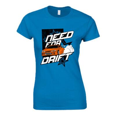 Need For Drift női póló (Türkiz)