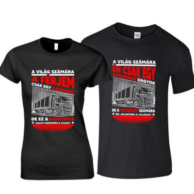 A világ számára páros póló (Fekete)