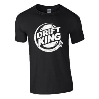 Drift king póló (Fekete)