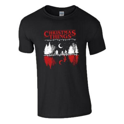 Christmas things póló (Fekete)