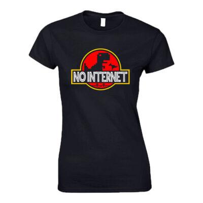 No internet női póló (Fekete)