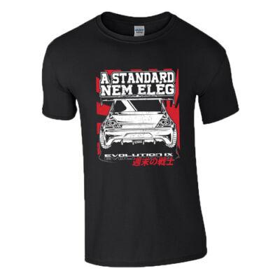A standard nem elég - EVO IX póló (Fekete)