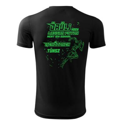 Menő futó technikai póló (fekete)
