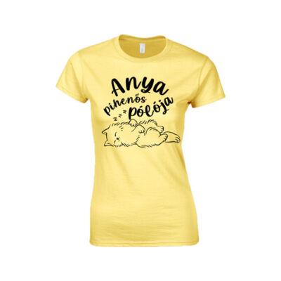 Anya pihenős pólója női póló (Citrom)