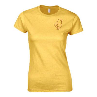 Csirketelep női póló (Sárga)
