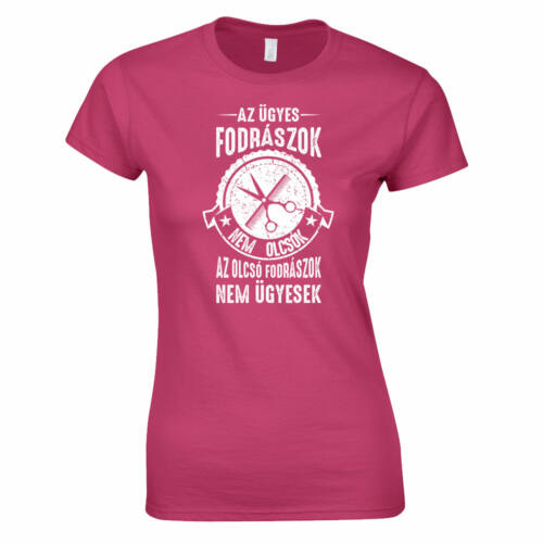 Az ügyes fodrászok női póló (rózsaszín)