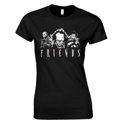 Horror Friends női póló (Fekete)
