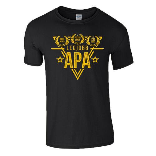 Legjobb Apa díjak póló (Fekete)