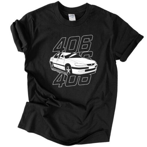 Pug 406 póló (Fekete)