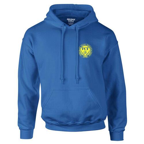FC Tiszaújváros kapucnis pulóver (Királykék_mell)