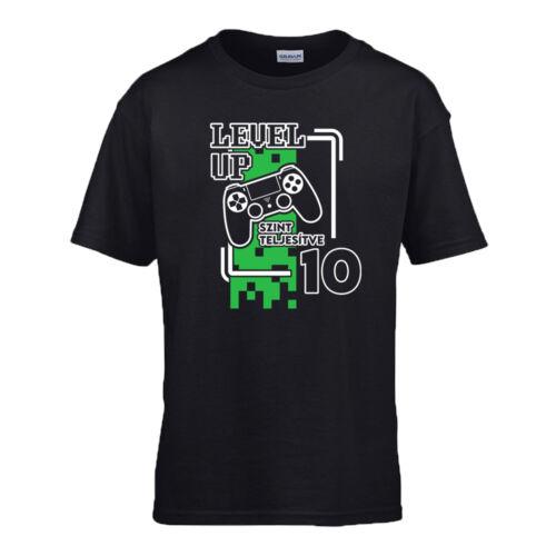Level Up gyerek póló (Fekete)